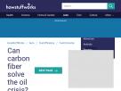 Can carbon fiber solve the oil crisis?