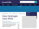How hydrogen cars work.
