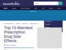 Top 10 weirdest prescription drug side effects.