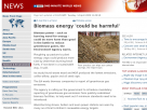 Biomass energy 'could be harmful'.