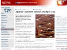 Apples' autumn colour change clue.