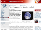 What happened to global warming?