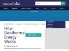 How geothermal energy works.