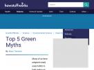 Top 5 green myths.