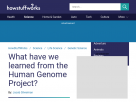 What have we learned from the Human Genome Project?