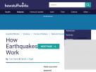 How earthquakes work.