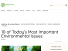 10 of today's most important environmental issues.