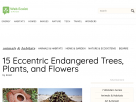 15 eccentric endangered trees, plants, and flowers.