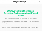 50 ways to help the planet.