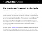 The solar power towers of Seville.