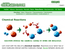 Chemical reactions in Chem4kids.com.