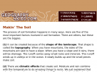 The formation of soils in Geography4kids.