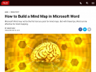 How to build a mind map in Microsoft Word.