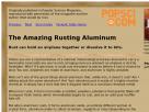 The amazing rusting aluminum.