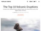 The top 10 volcanic eruptions.
