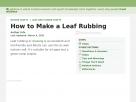 How to make a leaf rubbing.