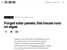 Forget solar panels, this house runs on algae.