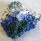 Azurite and acicular malachite