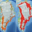 Seasonal melting of the Greenland ice sheet