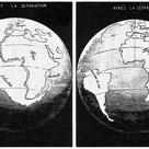 The opening of the Atlantic Ocean according to Antonio Snider-Pellegrini in 1858