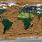 Earth's map showing the oceanic relief