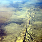 Transform boundary in the San Andreas fault