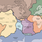 Labelled map of the tectonic plates