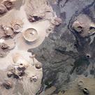 Volcanic landscape in Saudi Arabia