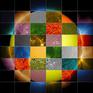 Multiple visions of the Sun from the SDO spacecraft (I)