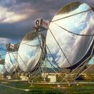 Parabolic dish reflector mirrors in a solar field
